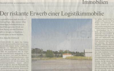Artikel: Der riskante Erwerb einer Logistikimmobilie